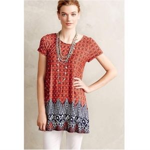 Anthropologie Puella paisley floral boho tunic top